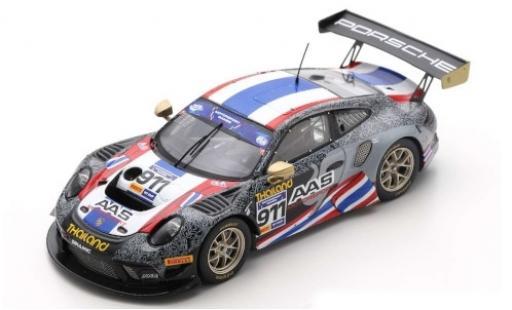 Porsche 992 GT3 R 1/43 Spark 911 No.911 AAS Motorsport Team Thailand FIA Motorsport Games GT Cup Vallelunga 2019 V.Inthraphuvasak/K.Kusiri miniature