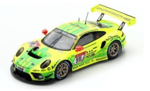 Porsche 992 GT3 R 1/43 Spark 911 No.911 Manthey-Racing 24h Nürburgring 2019 E.Bamber/M.Christensen/K.Estre/L.Vanthoor diecast model cars