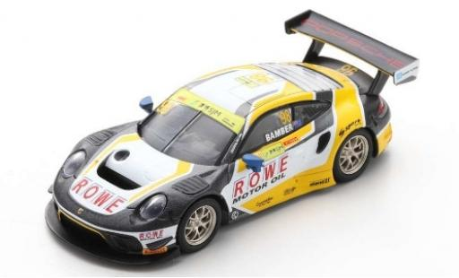 Porsche 992 GT3 R 1/64 Spark 911 No.98 ROWE Racing Fia GT World Cup Macau 2019 E.Bamber miniature