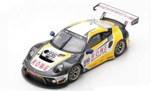 Porsche 992 GT3 R 1/18 Spark 911 No.998 ROWE Racing 24h Spa 2019 F.Makowiecki/P.Pilet/N.Tandy diecast model cars