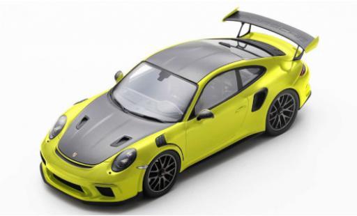 Porsche 991 GT3 RS 1/18 Spark 911 (.2) yellow/matt-black 2018 diecast model cars