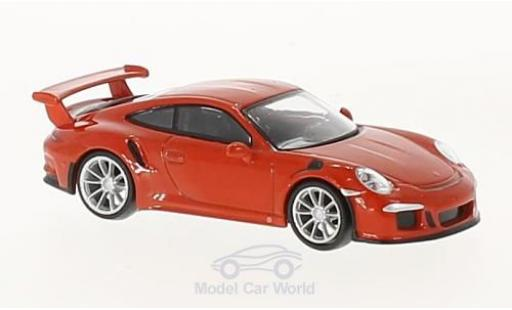 Porsche 991 GT3 RS 1/64 Spark 911 orange 2016 miniature