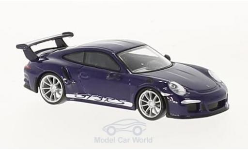Porsche 991 GT3 RS 1/64 Spark 911 violette 2016 miniature