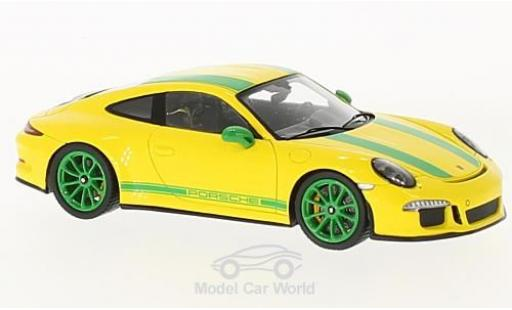 Porsche 991 SC 1/43 Spark R yellow/grün 2017 diecast