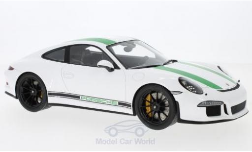 Porsche 991 R 1/18 Spark 911 white 2017 diecast model cars