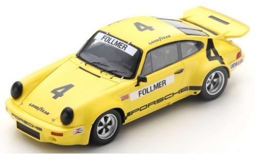 Porsche 930 RS 1/43 Spark 911 3.0 No.4 IROC Daytona 1974 G.Follmer diecast model cars