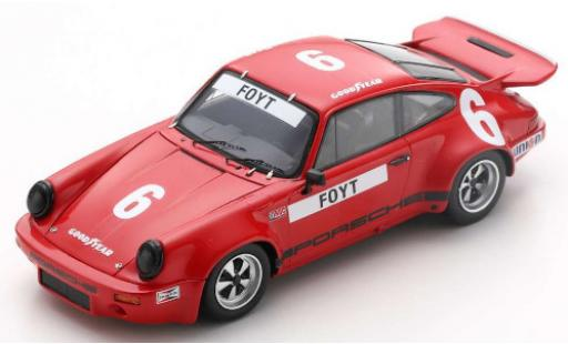 Porsche 930 RS 1/43 Spark 911 3.0 No.6 IROC Daytona 1974 A.J.Foyt diecast model cars