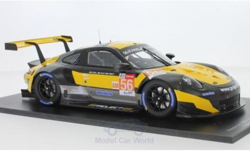 Porsche 911 1/18 Spark RSR No.56 Team Project 1 24h Le Mans 2018 J.Bergmeister/P.Lindsey/E.Perfetti miniature