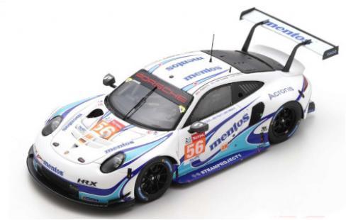 Porsche 992 RSR 1/43 Spark 911 No.56 Team Project 1 Mentos 24h Le Mans 2020 M.Cairoli/E.Perfetti/L.ten Voorde diecast model cars