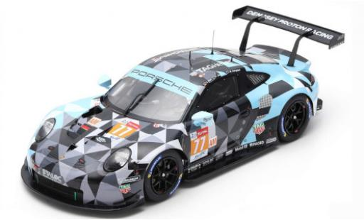 Porsche 991 RSR 1/18 Spark 911 No.77 Dempsey-Predon Racing 24h Le Mans 2018 M.Campbell/C.Ried/J.Andlauer diecast model cars