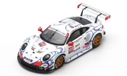 Porsche 991 RSR 1/87 Spark 911 No.911 GT Team Petit Le Mans 2018 P.Pilet/N.Tandy/F.Makowiecki diecast model cars