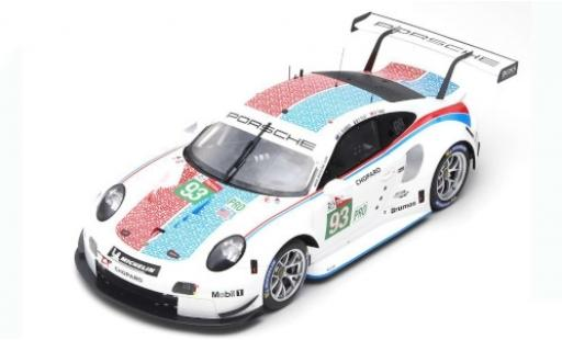 Porsche 992 RSR 1/12 Spark 911 No.93 GT Team 24h Le Mans 2019 P.Pilet/E.Bamber/N.Tandy miniature