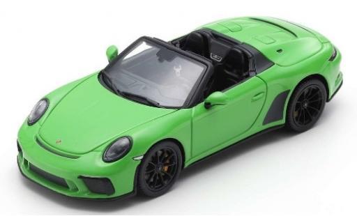 Porsche 992 Speedster 1/43 Spark 911 verte 2019 miniature