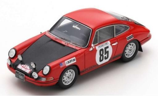 Porsche 911 1/43 Spark T No.85 Rally Monte Carlo 1969 J.Buffum/S.Behr modellino in miniatura