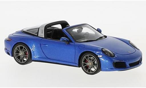 Porsche 991 Targa 1/43 Spark 911 4S metallise blue 2017 diecast model cars