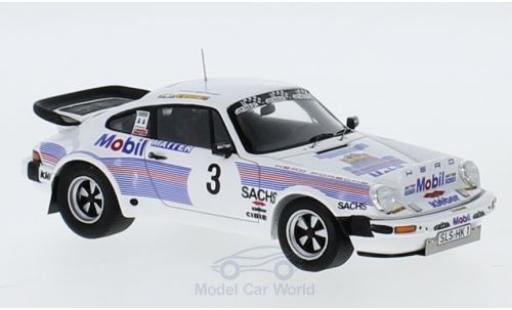 Porsche 930 Turbo 1/43 Spark 911 3.3 No.3 Mobil Rallye DM Rallye Saarland 1983 M.Hero/D.Müller coche miniatura