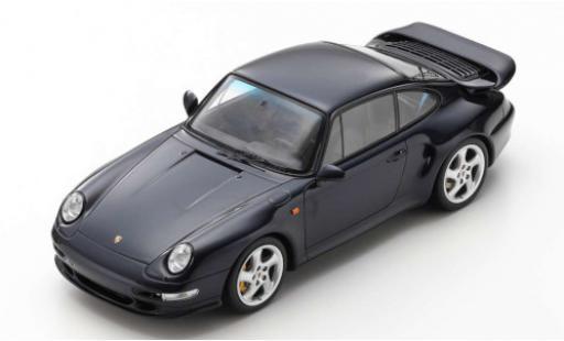 Porsche 993 Turbo S 1/18 Spark 911  negro 1997 coche miniatura