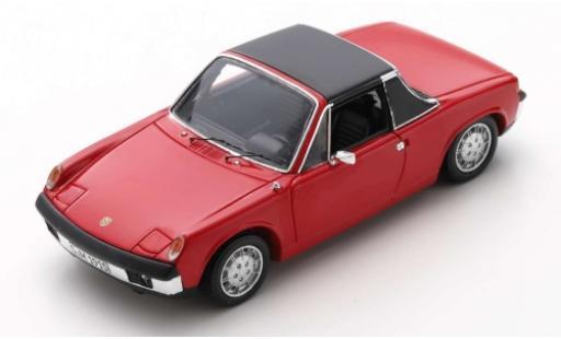 Porsche 914 1/43 Spark /6 rosso 1973 modellino in miniatura