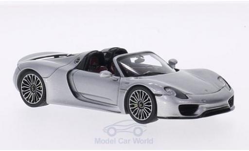 Porsche 918 1/43 Spark Spyder grey 2014 diecast model cars