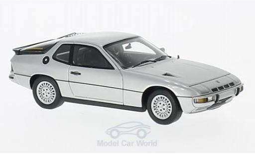 Porsche 924 1/43 Spark Turbo gris 1979 miniatura