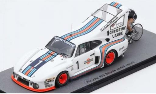 Porsche 935 1977 1/43 Spark No.1 Bicycle Speed Record Cyclist: J-C.Rude H.Pescarolo miniature