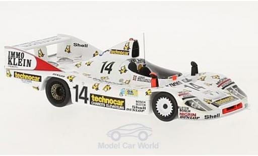 Porsche 936 1/43 Spark RHD No.14 Technocar 24h Le Mans 1981 D.Whittington/R.Joest/K.Niedzwiedz miniature