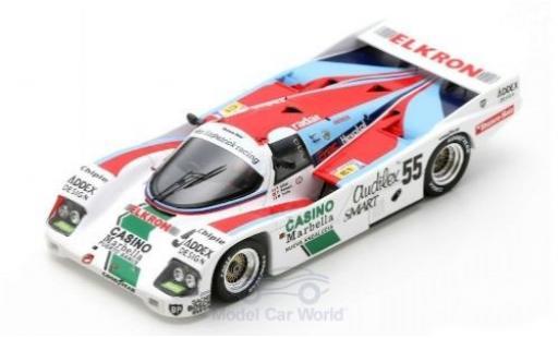 Porsche 956 1/43 Spark /62 C RHD No.55 24h Le Mans 1986 F.Alliot/P.Romero/M.Trolle diecast