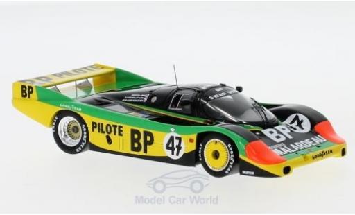 Porsche 956 1983 1/43 Spark No.47 24h Le Mans P.Henn/J-L.Schlesser/C.Ballot-Lena diecast model cars