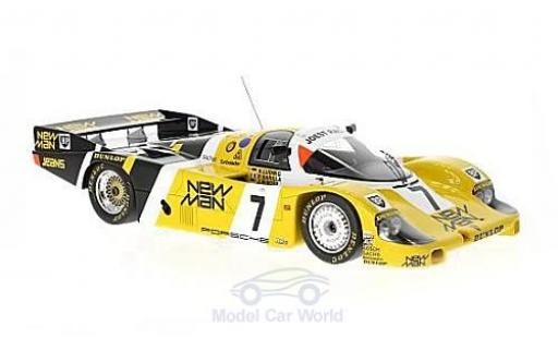 Porsche 956 1985 1/18 Spark No.7 Joest Racing New Man 24h Le Mans 1985 K.Ludwig/J.Winter/P.Barilla miniature