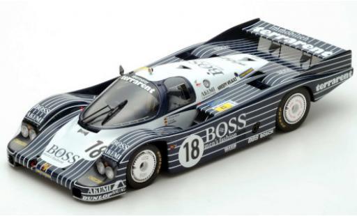Porsche 956 1983 1/64 Spark RHD No.18 Obermaier Racing Boss 24h Le Mans J.Lässig/A.Plankenhorn/D.Wilson miniature