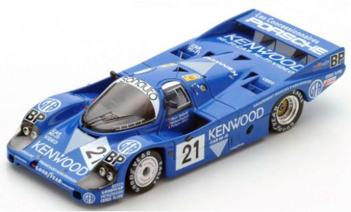 Porsche 956 1983 1/64 Spark RHD No.21 Kremer Racing Kenwood 24h Le Mans M.Andretti/M.Andretti/P.Alliot miniature