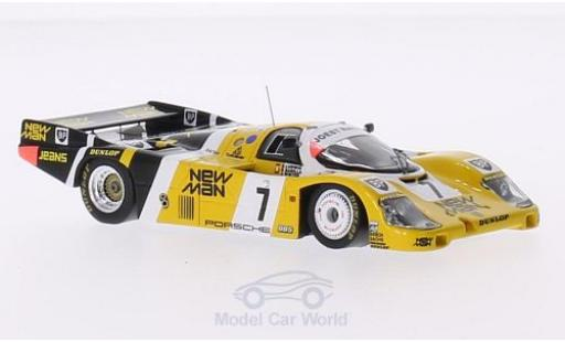 Porsche 956 1985 1/43 Spark RHD No.7 Joest Racing New Man 24h Le Mans 1985 J.Winter/P.Barrilla/K.Ludwig miniature