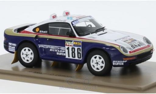 Porsche 959 1986 1/43 Spark No.186 Rothmans Rallye Paris Dakar mit Decals R.Metge/D.Lemoine diecast model cars