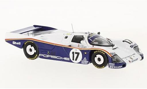 Porsche 962 1/43 Spark C No.17 Rothmans 24h Le Mans 1987 avec Decals D.Bell/A.Holbert/H-J.Stuck miniature