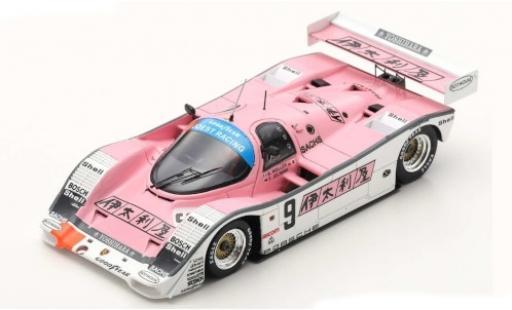 Porsche 962 1989 1/43 Spark C RHD No.9 Joest Racing 1000km Fuji B.Wollek/F.Jelinski diecast model cars