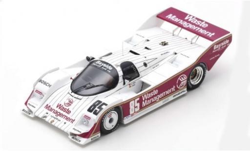 Porsche 962 1/43 Spark RHD No.85 2h Del Mar 1987 J.Mass miniature