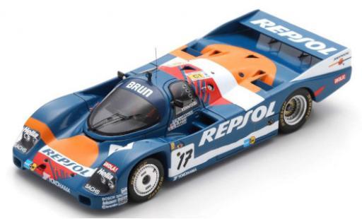 Porsche 962 1989 1/43 Spark C RHD No.17 Brun Racing Repsol 24h Le Mans O.Larrauri/W.Brun/J.Pareja diecast model cars