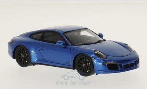 Porsche 991 GTS 1/43 Spark blue 2015 diecast model cars