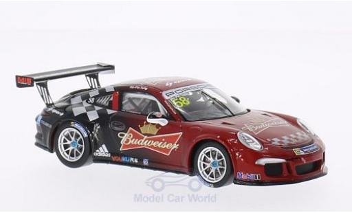 Porsche 991 1/43 Spark No.58 PCCA GT3 Cup Challenge 2014 H. P.Tung miniature