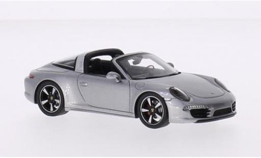 Porsche 991 Targa 1/43 Spark 4S grey 2015 diecast model cars