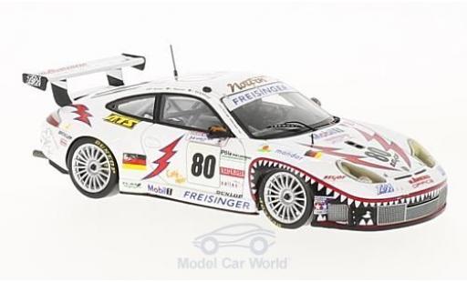 Porsche 996 GT3 RS 1/43 Spark (911) No.80 Freisinger Motorsport 24h Le Mans 2002 R.Dumas/S.Maassen/J.Bergmeister miniature