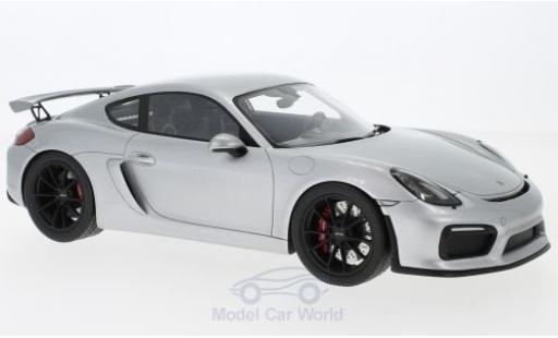 Porsche Cayman 1/18 Spark (981) GT4 gris 2016 miniatura