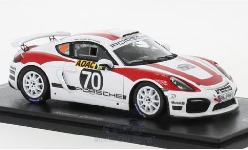 Porsche Cayman GT4 Clubsport 1/43 Spark R-GT No.70 Rallye Deutschland 2018 R.Dumas miniature