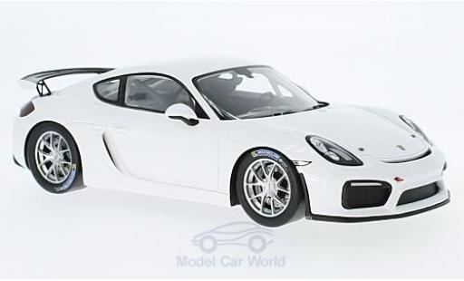 Porsche Cayman 1/18 Spark GT4 Clubsport blanche 2017 miniature