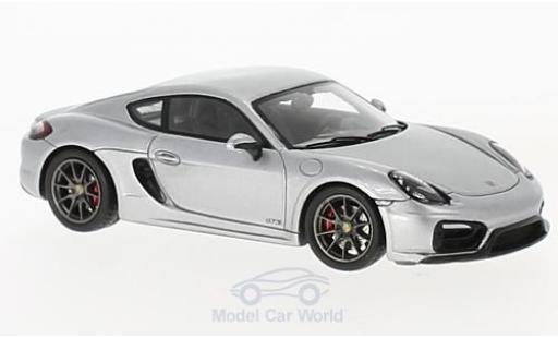 Porsche Cayman 1/43 Spark n GTS grise 2015 miniature