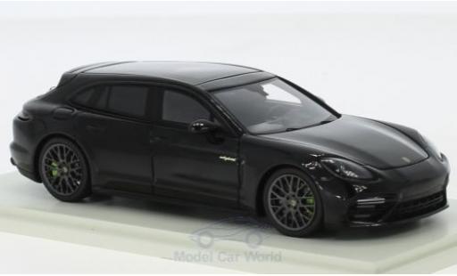 Porsche Panamera 1/43 Spark Sport Turismo Turbo S E-Hybrid noire 2018 miniature