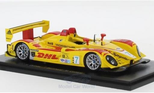 Porsche RS 1/43 Spark Spyder No.7 Penske Racing 12h Sebring 2008 R.Dumas/T.Bernhard/E.Collard miniature
