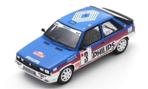 Renault 11 1/43 Spark Turbo No.3 Philips Rally Monte Carlo 1987 J.Ragnotti/G.Thimonier diecast model cars