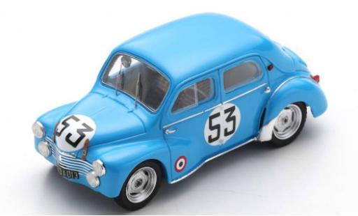 Renault 4CV 1952 Bolo d/'Or Blue 1:43 Scale Die-cast Model Classic Car Del Prado