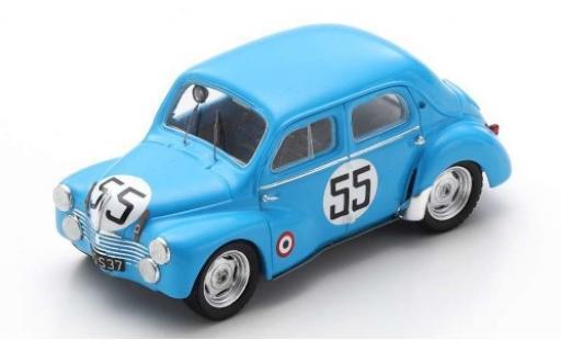 Renault 4CV 1/43 Spark 1063 No.55 Jacques Lecat 24h Le Mans 1952 J.Lecat/H.Senfftleben modellautos